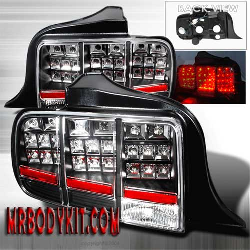 2005-2009 COMBO Mustang Gen 3 - BLACK (Pair) & Taillights Gen 3 - LED Black (Pair)