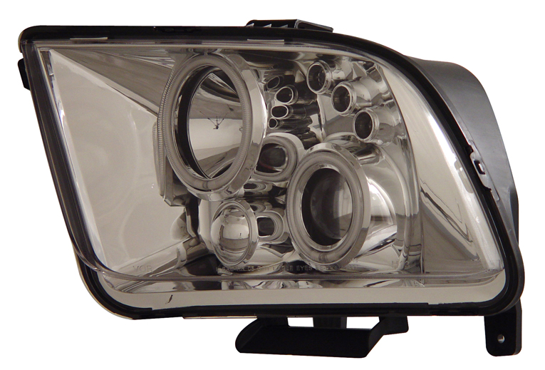 05-09 Mustang Headlights GEN 5 PROJECTOR with DUAL HALO (CCFL) and LED Turn Signals- CHROME (Pair)