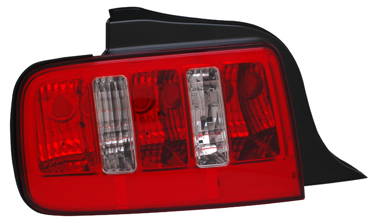 05-09 Mustang Taillights RED CLEAR (Pair)