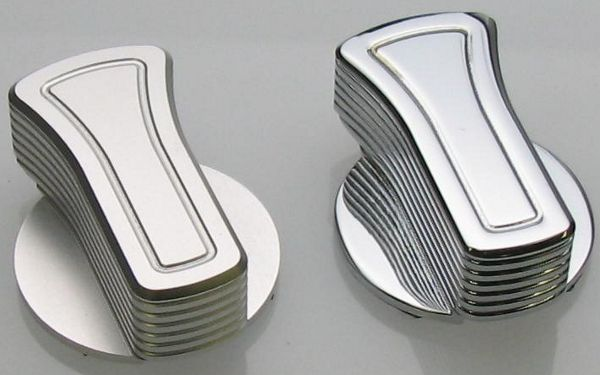 05-09 Mustang Billet Headlight Knob Covers - Chrome