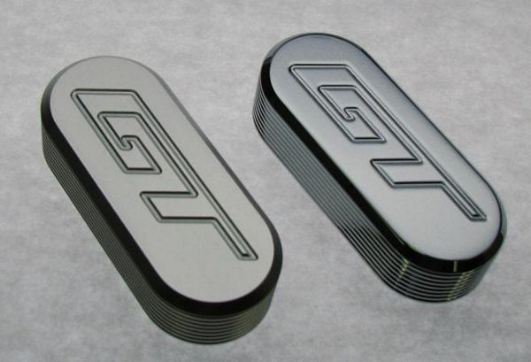 05-09 Mustang Billet Seat Adjuster Covers - Chrome