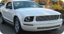 05-09 Mustang V6 - Upper & Lower Billet Grille COMBO - No cut out for Pony CHROME or BLACK