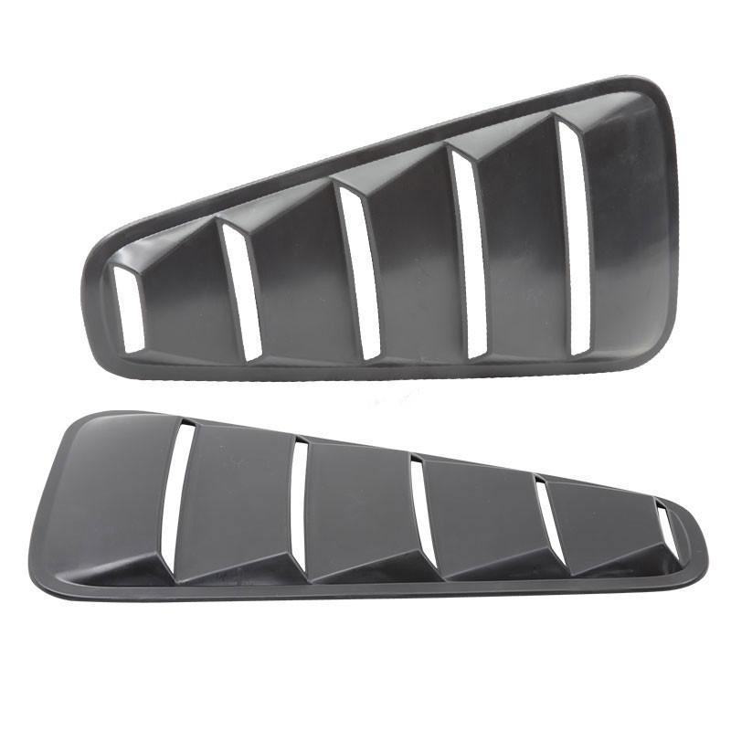 2005-2009 Mustang Quarter Window Louvers 5 SLOT - Pair - ABS PLASTIC