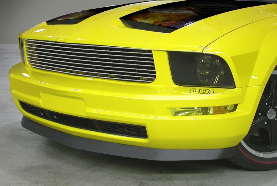 05-09 Mustang V6 - REPLACEMENT Upper Billet Grille POLISHED