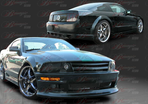 05-09 Mustang STALLION 2 - Side Skirts - Passenger / Driver Side - (Fiberglass)