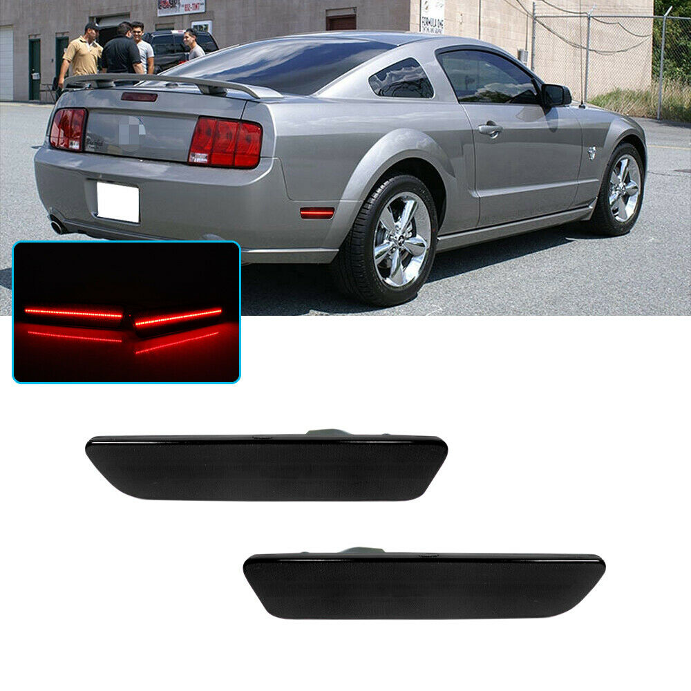 05-09 Mustang Diamond Rear Bumper Reflectors - SMOKED (Pair)