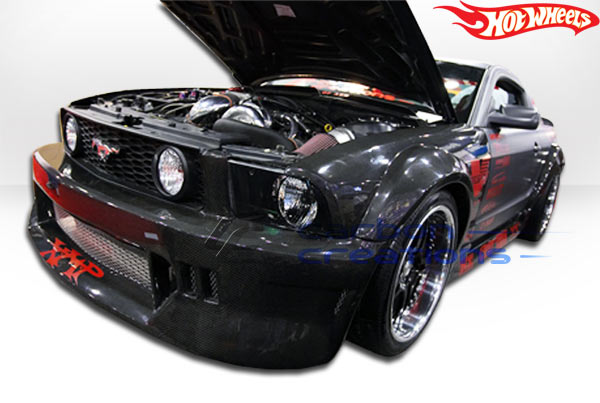 2005-2009 Ford Mustang Carbon Creations Hot Wheels Wide Body Front Bumper Cover - 1 Piece