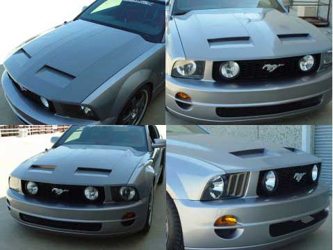 05-09 Mustang RK CALIFORNIA DREAM Ram Air Hood (Fiberglass)