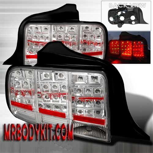 05-09 Mustang Taillights Gen 3 - LED Chrome (Pair)