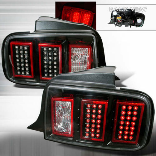 05-09 Mustang Taillights GEN 5 - LED BLACK (Pair)