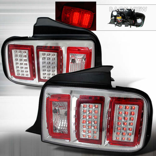 05-09 Mustang Taillights GEN 5 - LED Chrome (Pair)