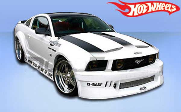 05-09 Mustang HOT WHEELS - 9PC - Body kit with Wing - CARBON FIBER