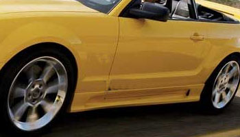 05-09 Mustang KBD BULLET SLN - Side Skirts & Side Door Fill Caps - (Pair 4pc) - (Urethane) FREE SHIPPING