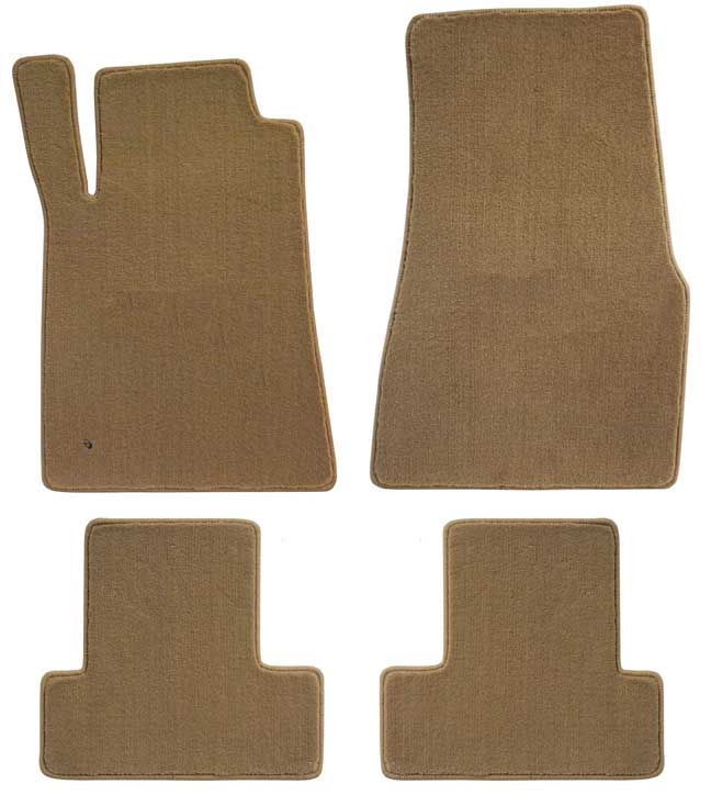 2005-2010 Mustang Coupe / Convertible Floor Mats - Parchment