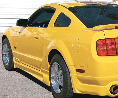 05-09 Mustang RAZZI GT & V6 - Side Skirts - Passenger / Driver Side - (ABS AERO-FLEX)