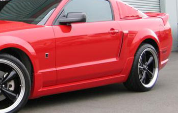 05-09 Mustang ROUSH - Side Skirts - Passenger / Driver Side - (TPO Plastic)