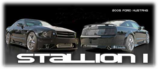 05-09 Mustang STALLION 1 - (4PC) - Body kit (Front + Rear + Sides) - Fiberglass