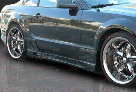 05-09 Mustang STALLION 3 - Side Skirts - Passenger / Driver Side - (Fiberglass)