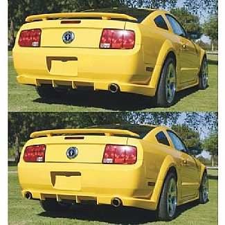 05-09 Mustang STREET SCENE V6 - Add-on Rear Valance - (Urethane)