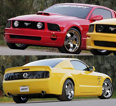 05-09 Mustang XENON - (11 PC) - Body kit (Front + Rear + Sides + Up/Low Scoops) & Wing - Urethane