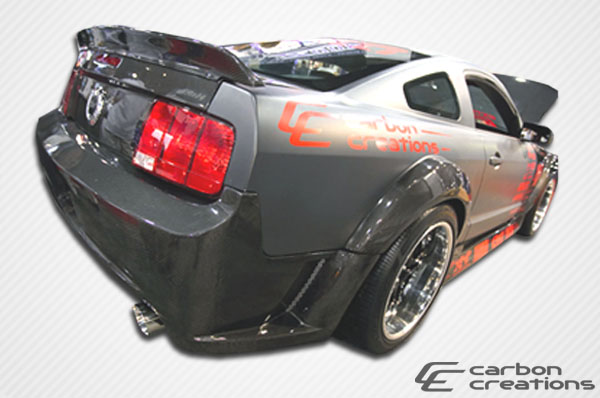 2005-2009 Ford Mustang Carbon Creations Hot Wheels Wing Trunk Lid Spoiler - 1 Piece CARBON FIBER