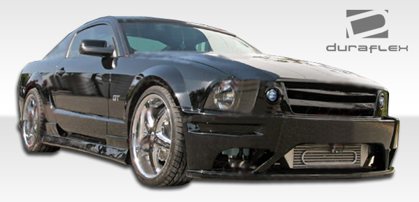 2005-2009 Ford Mustang Duraflex Stallion Front Bumper Cover Fits GT or V6 Upper built-in Grille & lip included - 2 Piece