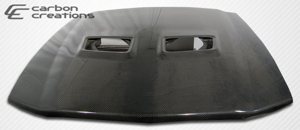 2005-2009 Ford Mustang Cobra Carbon Creations OEM Hood- (FITS 05-09 GT500 FRONT ONLY) CARBON FIBER