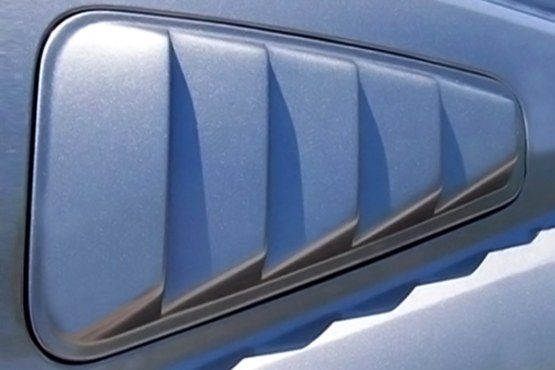 2010-14 Mustang ABS Astra Plastic Window Louvers 5 Slots