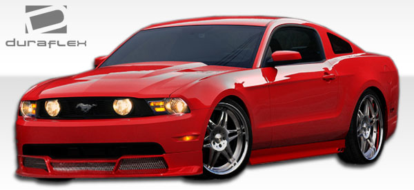 2005-2014 Ford Mustang Duraflex Racer 3 Side Skirts Rocker Panels - 2 Piece
