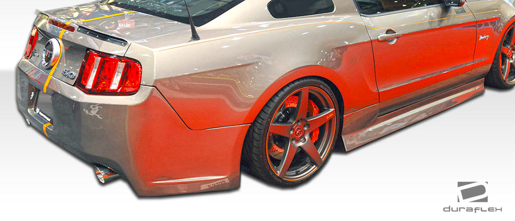 2005-2014 Ford Mustang Duraflex Tjin Edition Side Skirts Rocker Panels - 2 Piece