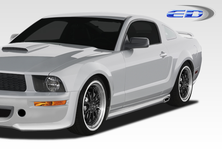 2005-2014 Ford Mustang Polyurethane Eleanor Side Skirts Rocker Panels - 2 Piece