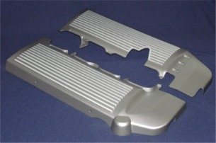 2005-2010 Finned Fuel Rail Covers, Black w/ Gunmetal Fins