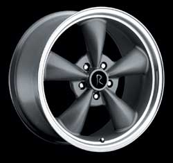"BULLITT - CHARCOAL SILVER - 5 Lug 05-13 (sizes available 17"", 18"", 20"" & Staggered)"