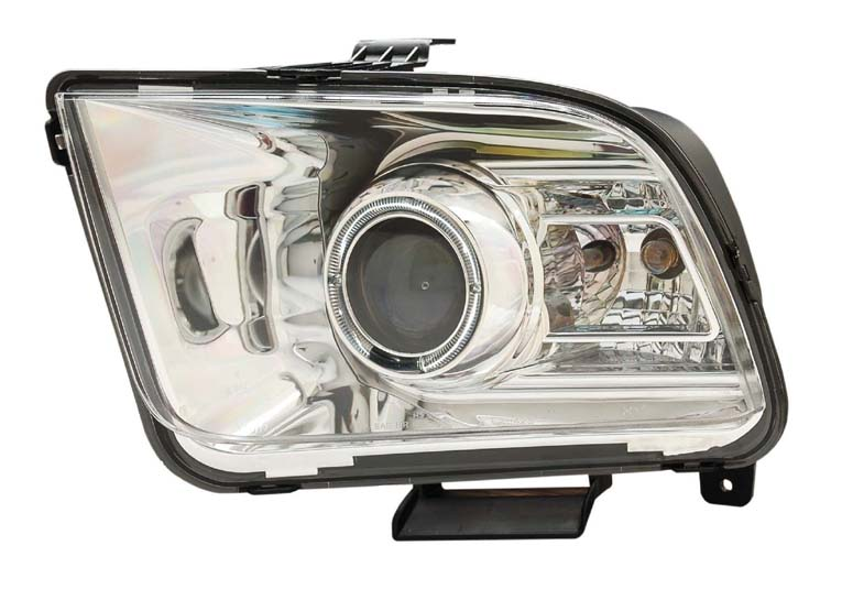 05-09 Mustang Headlights GEN 7 PROJECTOR with HALO (The 2010+ Look Style)- CHROME (Pair)