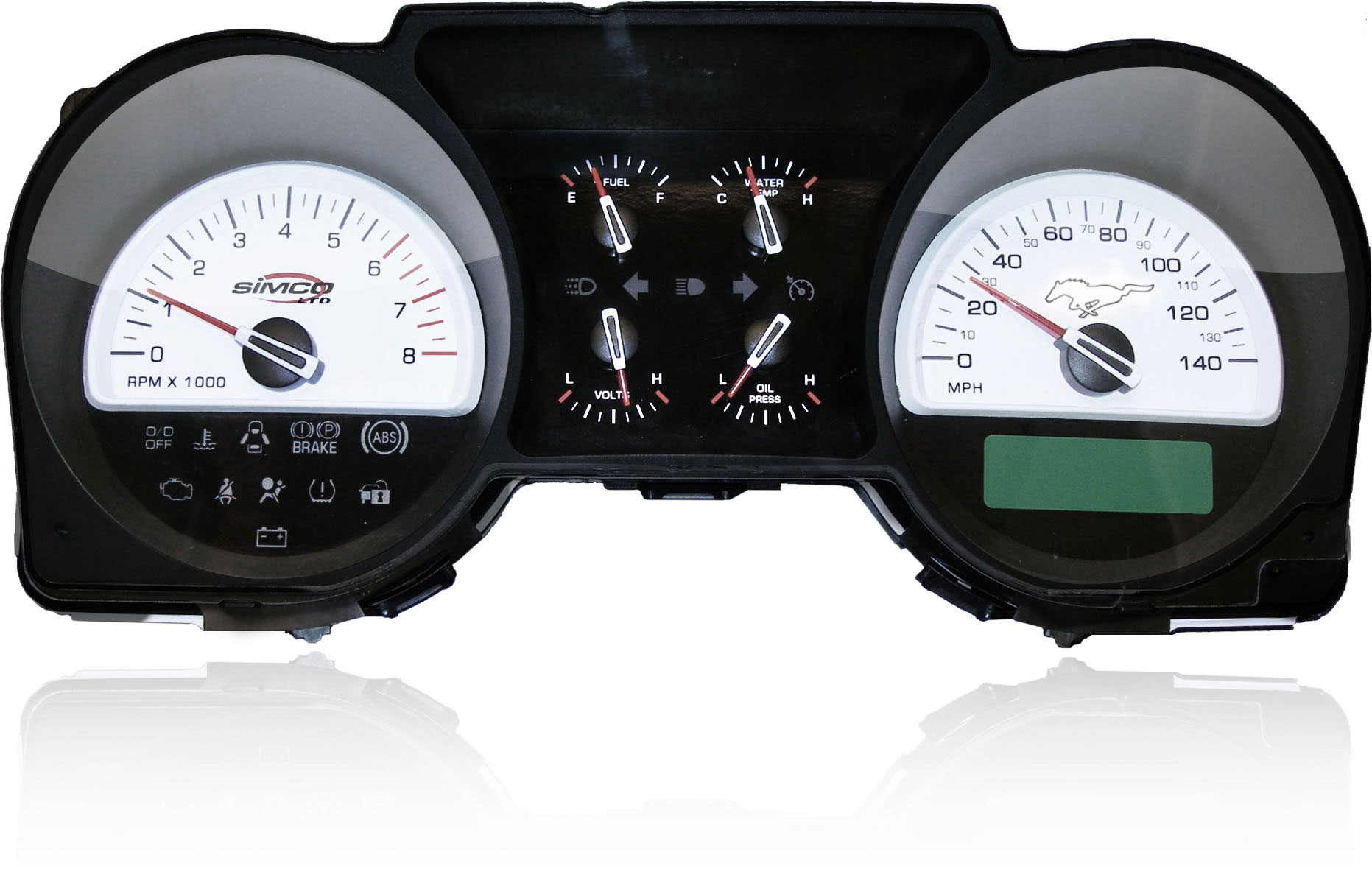 2005-2009 Simco Mustang V6 - 6 GAUGE CLASSIC SERIES COLOR