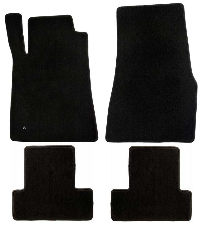 2005-2010 Mustang Coupe / Convertible Floor Mats - Black