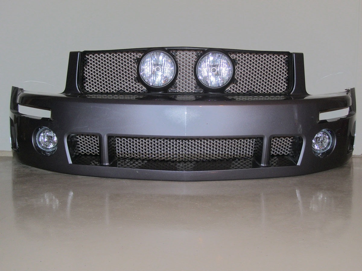 "05-09 Mustang Street Scene Center Fog Light Grills ""MESH STYLE"" GT KIT - Black Powdercoat"