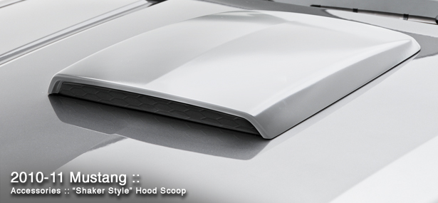 "2005-2013 Mustang 3D Carbon 20""Front-Rear 15""Wide Shaker Style Hood Scoop II 691268 (Paint Options)"