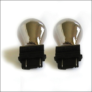 Stealth Bulbs #3157 (Amber when ON Chrome when OFF)