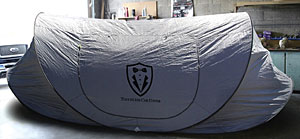 Universal Touchless Car Cover - Folds out in seconds