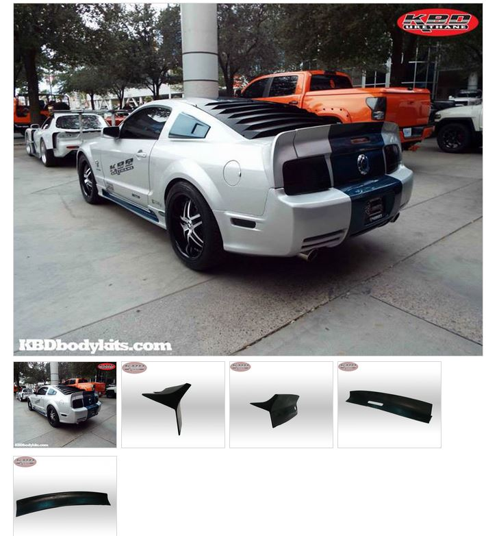 2005-2009 Mustang Eleanor Wing 3pc - Urethane