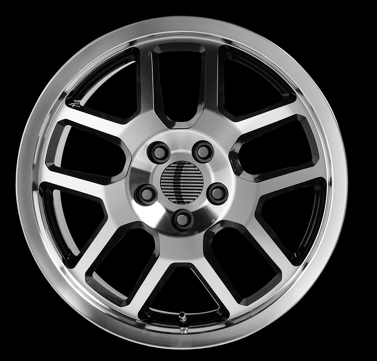 "COBRA 310 (V1146) CHROME with BLACK - 5 Lug 05-13 (sizes available 17"")"