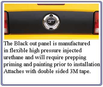 2005-2009 Mustang 3D Carbon Rear Black out Panel (Paint Options)