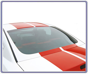 2005-2014 Mustang 3D Carbon Rear Window U-Trim (Paint Options)
