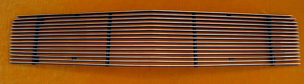 05-09 Mustang V6 - Upper Billet Grille - No cut out for Pony (801112) CHROME or BLACK