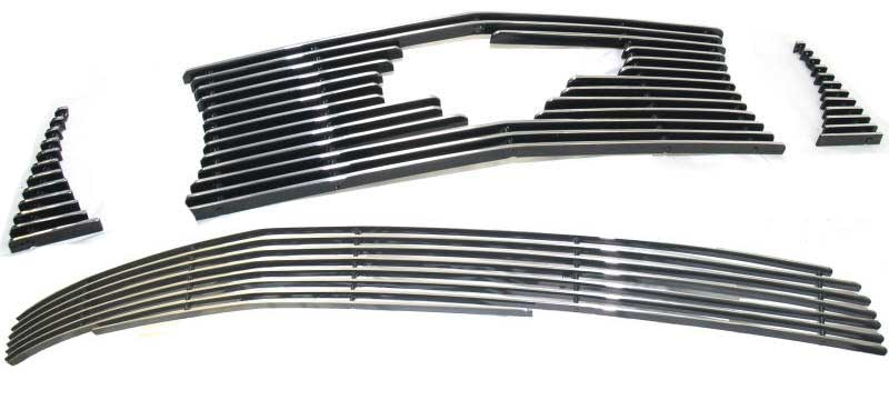 05-09 Mustang GT - 3PC Upper & Lower Billet Grille COMBO Kit with Pony Cut out CHROME or BLACK