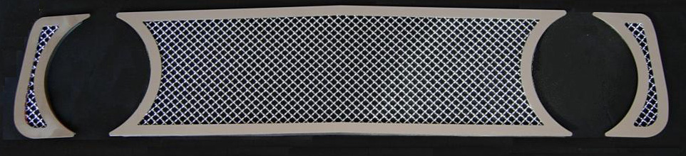 05-09 Mustang GT - 3PC Upper MESH Grille w/Stainless Steel Frame (801114FS)