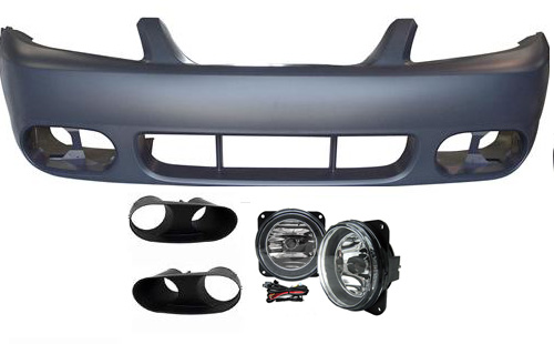 03 04 Cobra Style Mustang Front Bumper With Fog Lights W Bezels Fits Any 99 04 V6 Gt Or Cobra Urethane 0304cobfbwf 569 99 Mrbodykit Com The Most Diverse Mustang Bodykits And