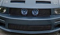 "05-09 Mustang Street Scene Center Fog Light Grills ""MESH STYLE"" GT KIT - Black Chrome"
