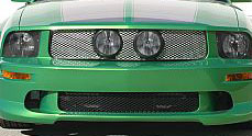 "05-09 Mustang Street Scene Center Fog Light Grills ""MESH STYLE"" GT KIT - Satin"